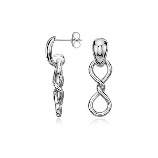 Twist Infinity Earrings in Sterling Silver