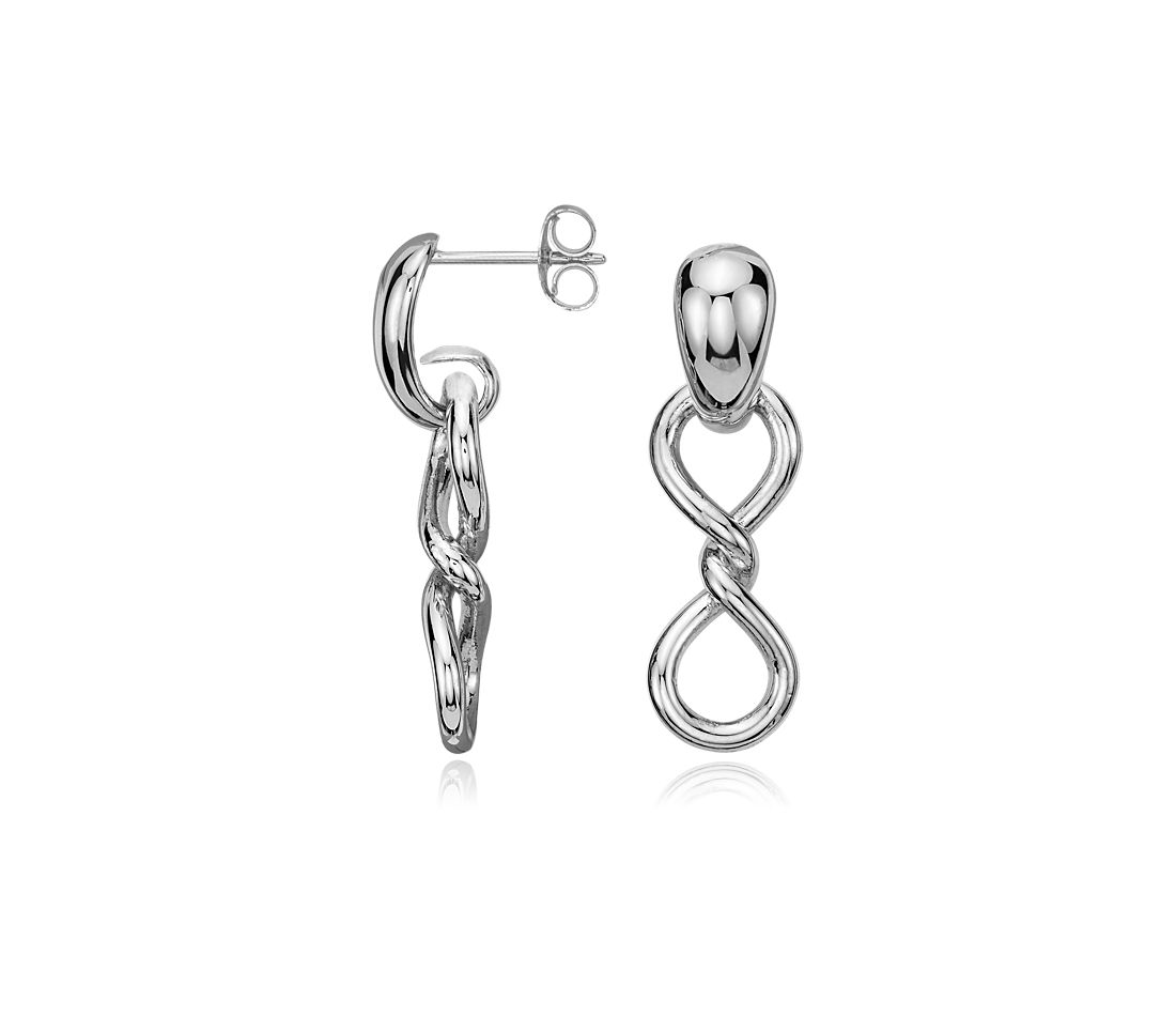 Twist Infinity Earrings in Sterling Silver