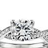 Twist Pavé Diamond Engagement Ring in 14k White Gold (1/4 ct. tw.)