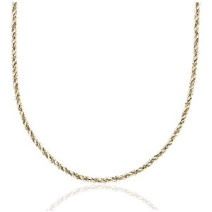 NEW Twist Rope and Box Chain Necklace in 14k White and Yellow Gold