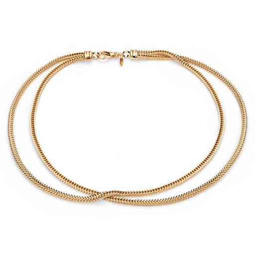 NEW Two Row Foxtail Necklace in Yellow Gold Vermeil