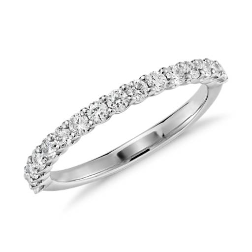 U-Claw Diamond Ring in 14K White Gold