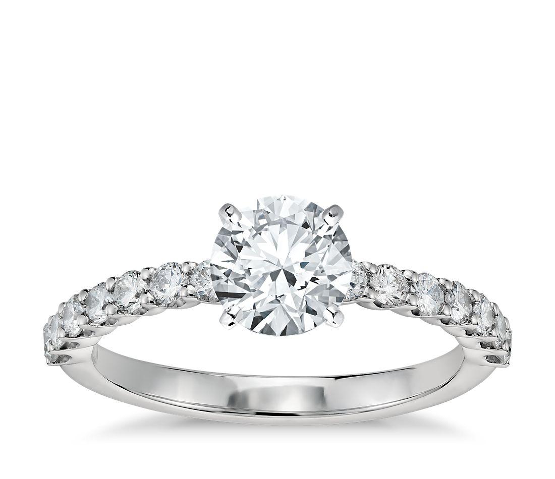 Petite U-Prong Diamond Engagement Ring in Platinum (1/3 ct. tw.)