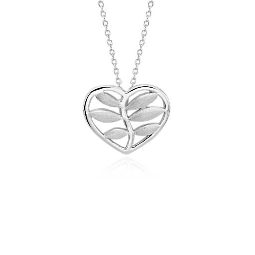 Vine Heart Pendant in Sterling Silver
