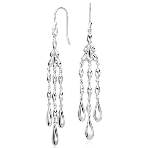 Vintage Chandelier Earrings in Sterling Silver
