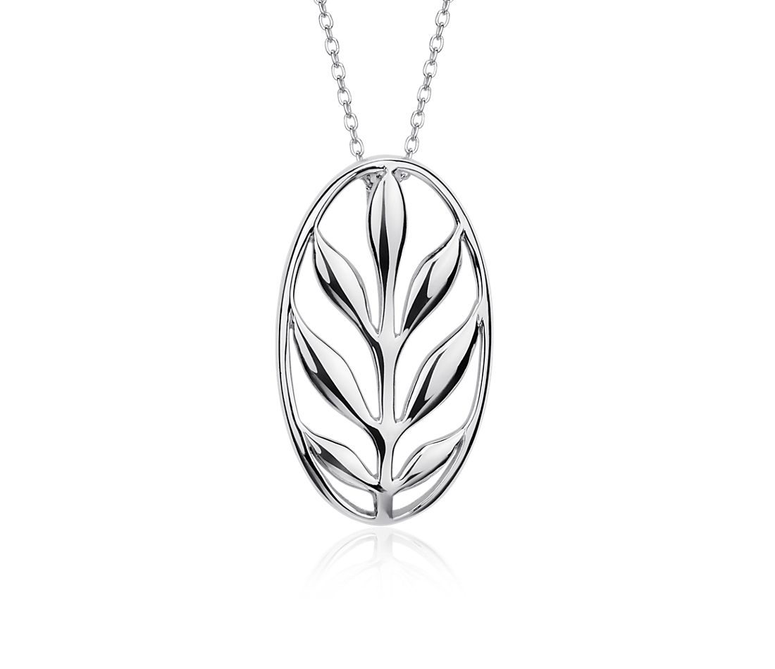 Vintage Leaf Pendant in Sterling Silver
