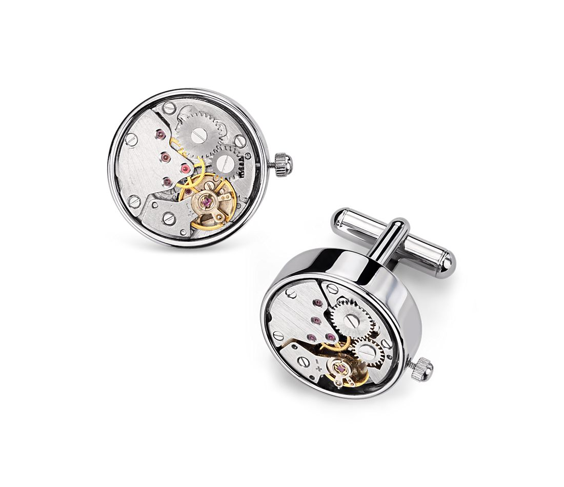 Steampunk Watch Movement Cuff Links