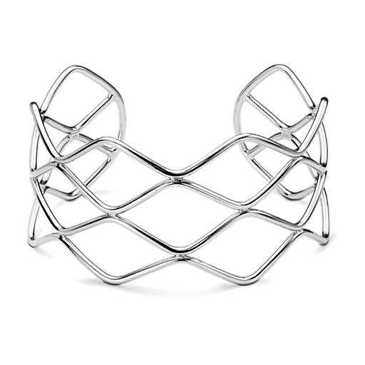Waves Cuff Bracelet in Sterling Silver