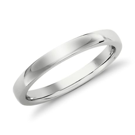 Low-Dome Comfort-Fit Wedding Ring in 14k White Gold (2.5 mm)