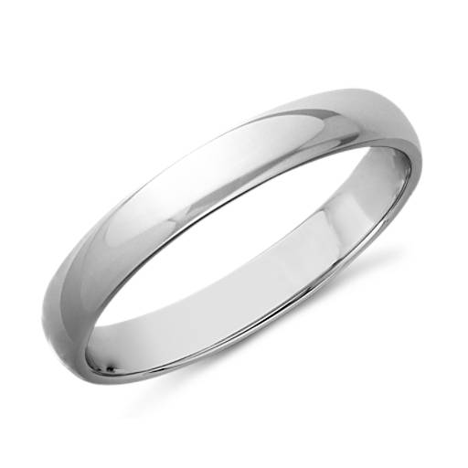 Wedding Ring in 14k White Gold (3mm)