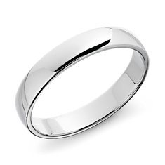 Wedding Ring in 14k White Gold (4mm)