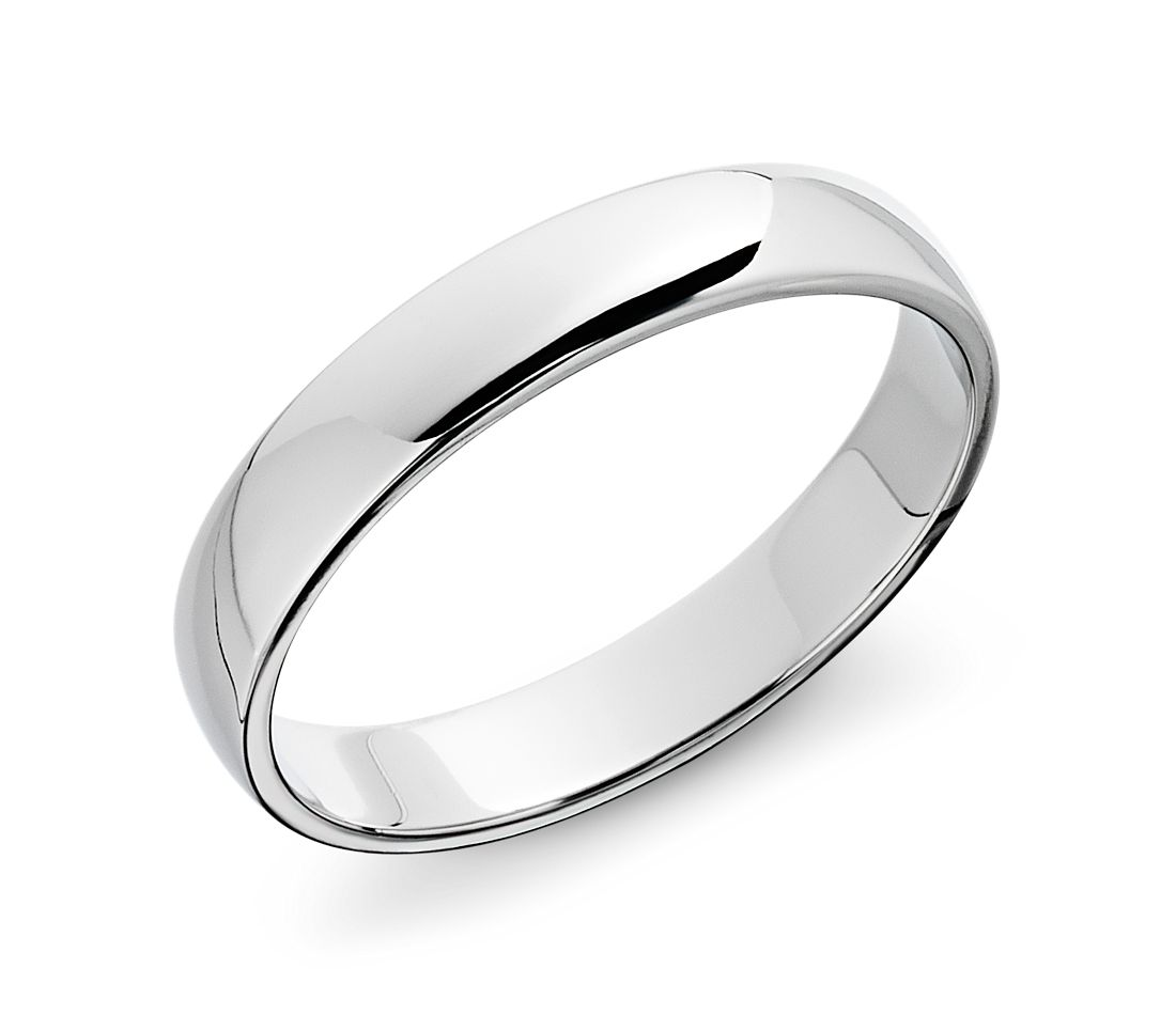 classic wedding ring in 14k white gold 4mm blue nile With whitegold wedding rings