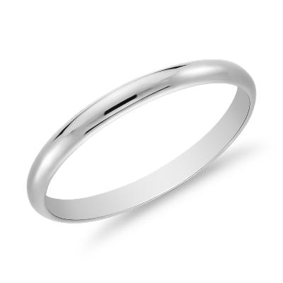 Classic Wedding Ring in Platinum (2mm)