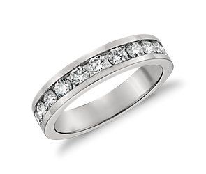 Channel Set Diamond Ring in Platinum (3/4 ct. tw.)