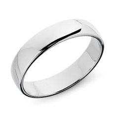 Flat Wedding Ring in Platinum (5mm)