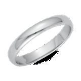 鉑金經典結婚戒指( 3毫米)
