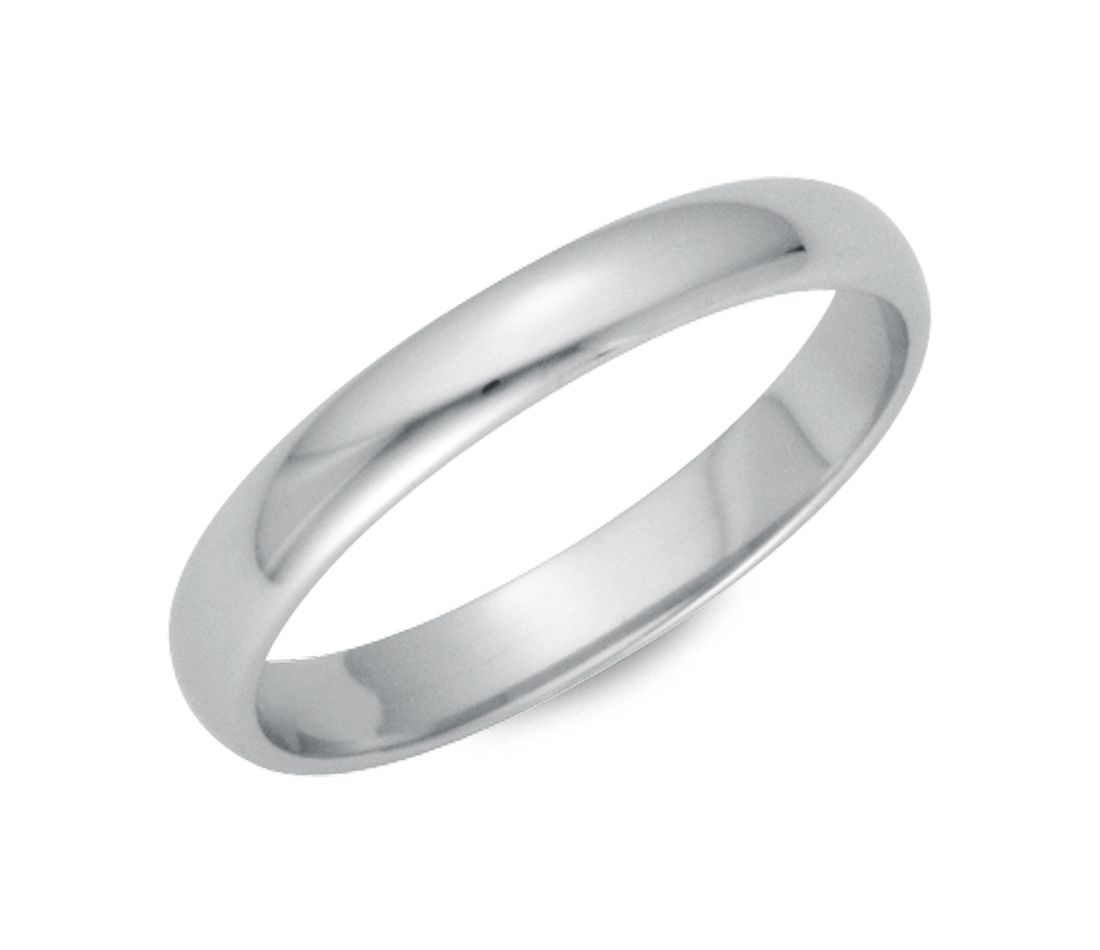 Classic Wedding Ring in Platinum (3mm)