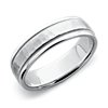 Hammered Milgrain Comfort Fit Wedding Ring in Platinum (6mm)