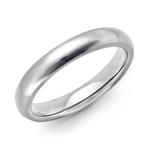 Domed Comfort Fit Wedding Ring in Platinum (3mm)