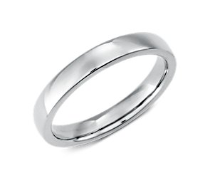 Low-Dome Comfort-Fit Wedding Ring in Platinum (3mm)
