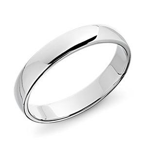 鉑金經典結婚戒指( 4毫米)