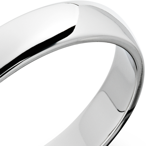 Alianza clásica en platino (4mm)