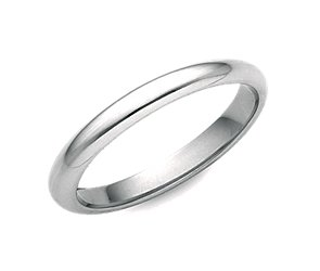 Comfort Fit Wedding Ring in 14k White Gold (2.5mm)
