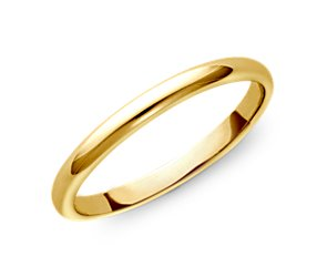 Classic Wedding Ring in 18k Gold (2mm)