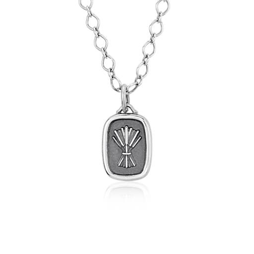 Stamped Wheat Stack Pendant in Sterling Silver