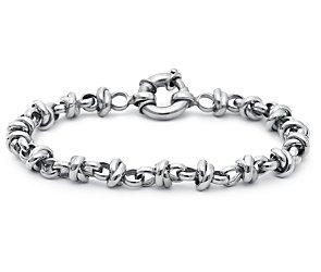 Love Knot Bracelet in 14k White Gold