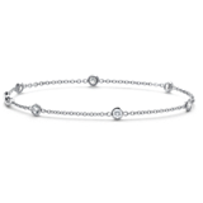 Bezel-Set Diamond Bracelet in 18k White Gold (5/8 ct. tw.)
