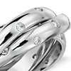 Rolling Starlight Diamond Eternity Ring in 18k White Gold
