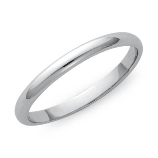 Alliance Classic en or blanc 14 carats (2 mm)