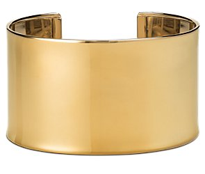 Wide Polished Cuff Bracelet in 14k Yellow Gold