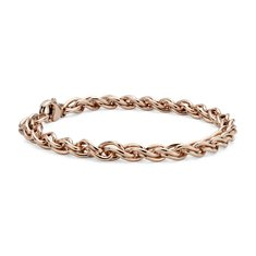 Woven Bracelet in Rose Gold Vermeil