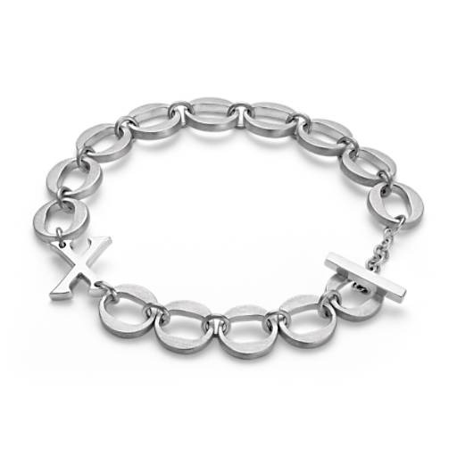 XO Bracelet in Satin Sterling Silver
