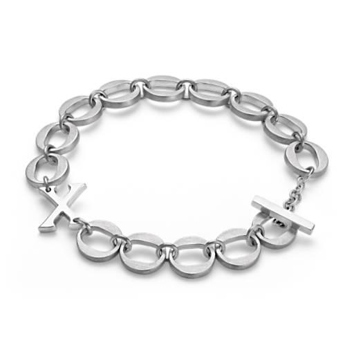 XO Bracelet in Satin Sterling Silver