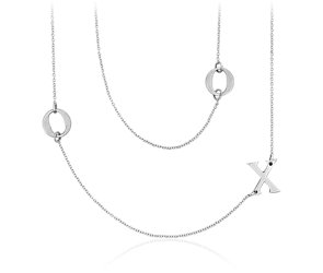 Bree Richey XO Necklace in Satin Sterling Silver