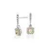 NUEVO. Aretes colgantes de diamantes amarillos, en oro blanco y amarillo de 14k (1,22 qt. total)