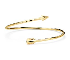 Arrow Bangle Bracelet in Yellow Gold Vermeil
