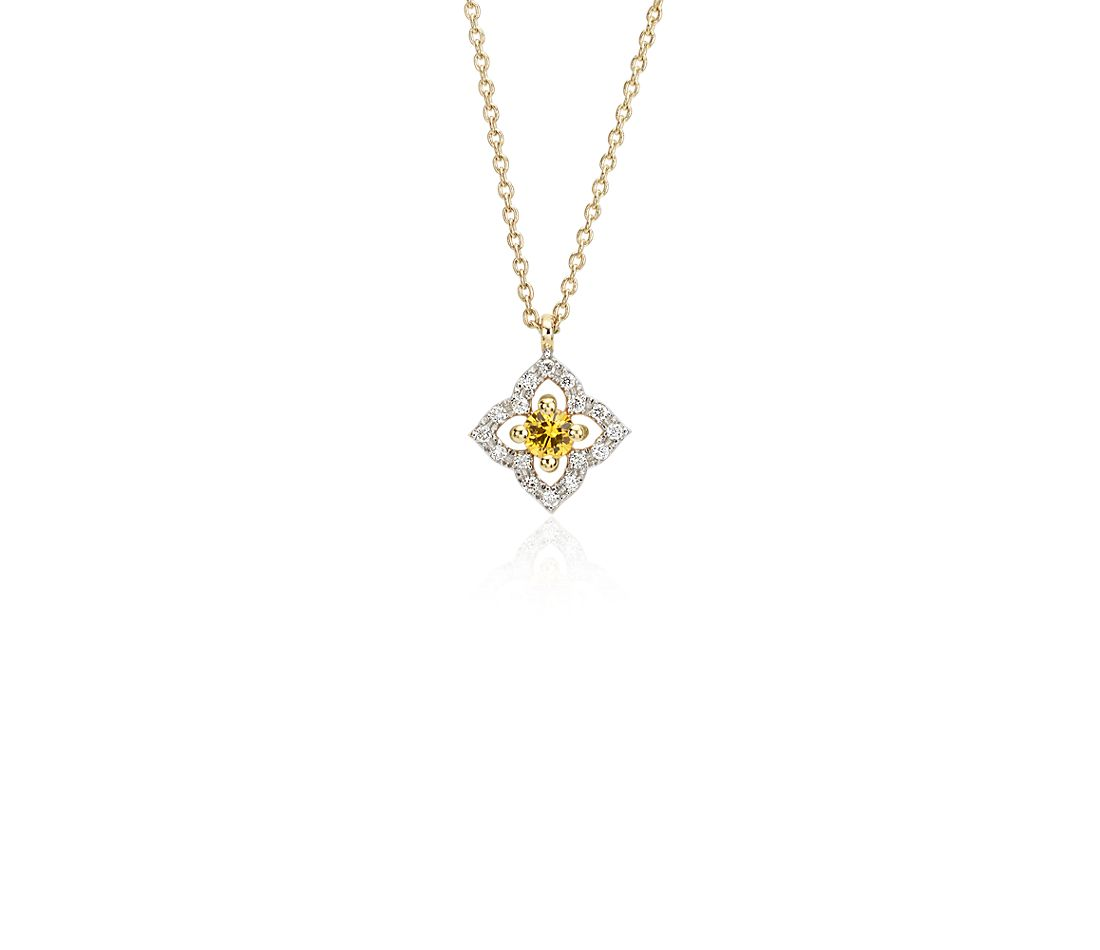 yellow sapphire necklace - photo #47