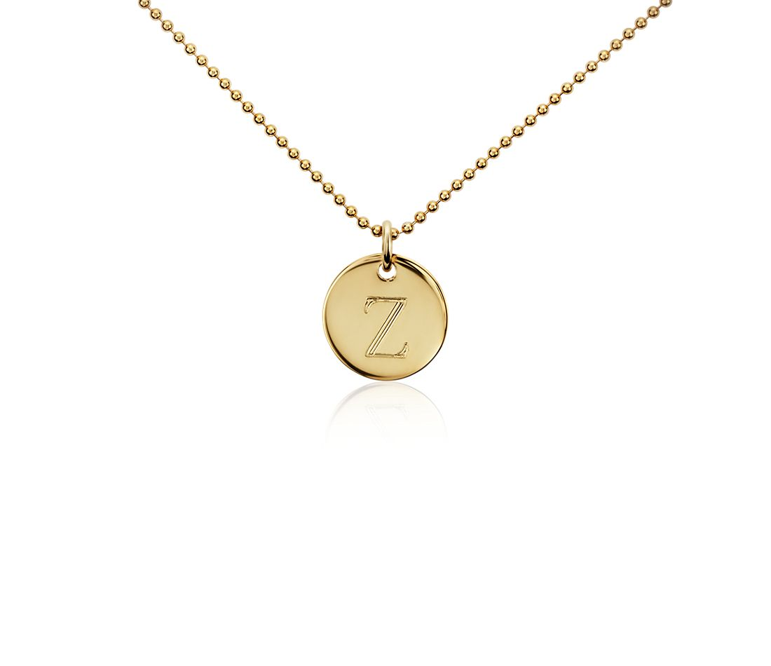 """Z"" Mini Initial Pendant in Gold Vermeil"