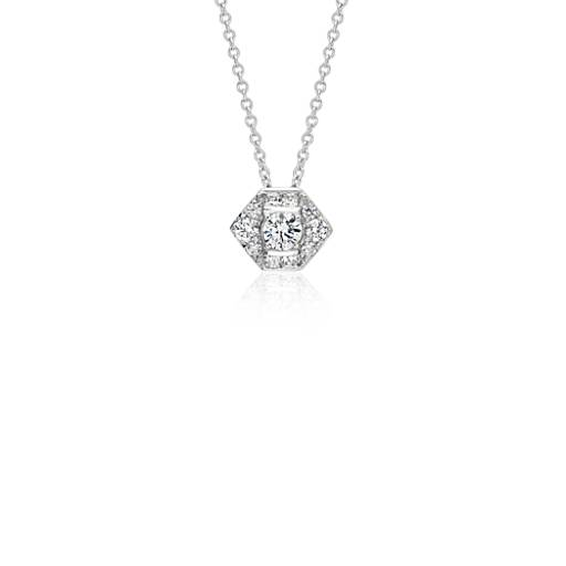 ZAC Zac Posen Diamond Pendant in 18k White Gold