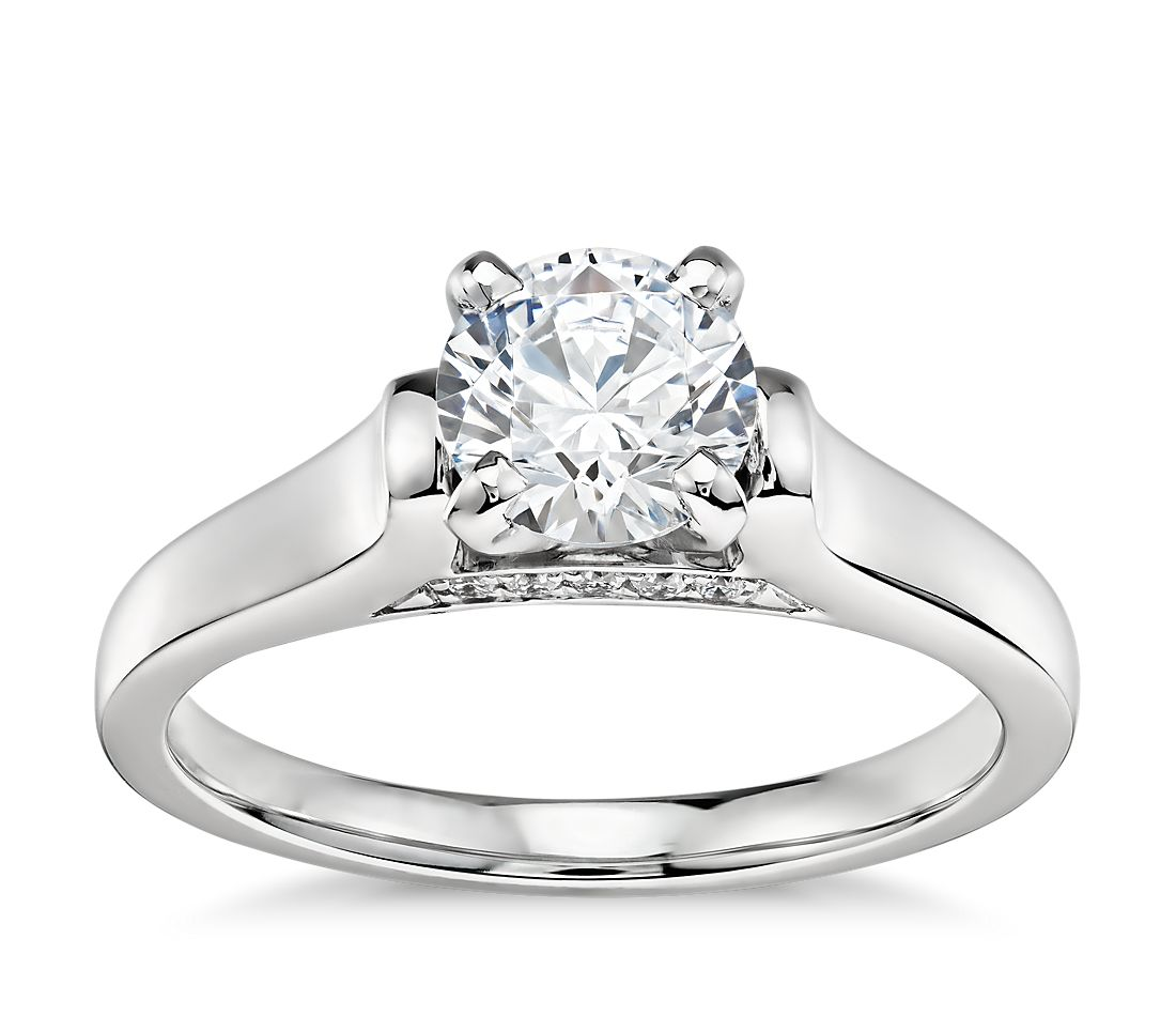 Engagement Rings Zac Posen: 3/4 Carat Preset Truly Zac Posen Cathedral Solitaire Plus