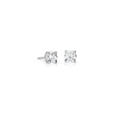 Canadian Puces d'oreilles en diamant in Or blanc 18 carats