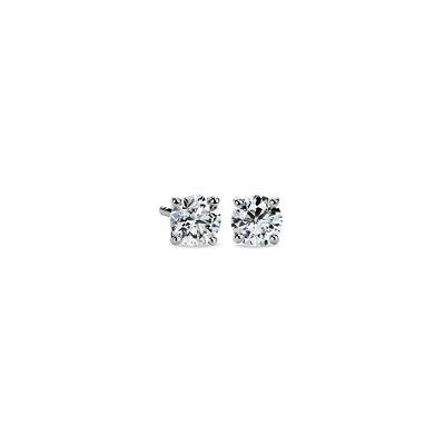 Diamond Stud Earrings in Platinum