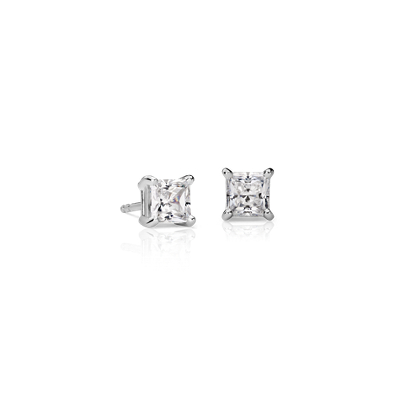 Princess-Cut Diamond Earrings in 18k White Gold