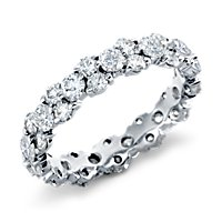 Prong-Set Diamond Garland Eternity Ring in Platinum (2.5 ct. tw.)