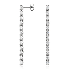 Oval-Cut Diamond Drop Earrings in Platinum (4.95 ct. tw.)