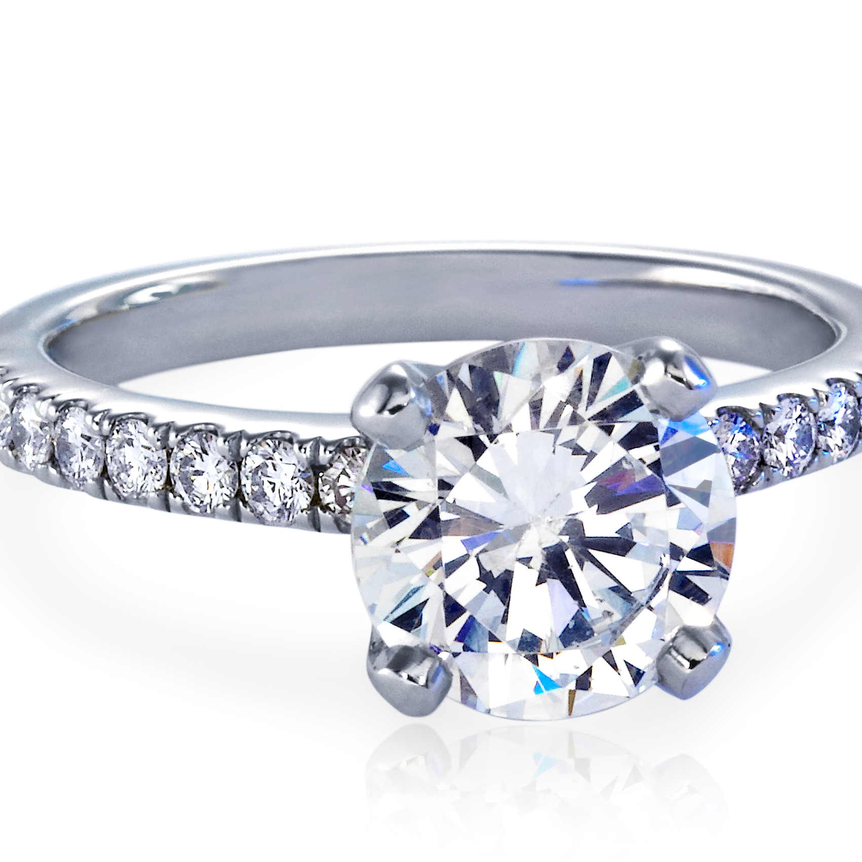 Nouveau Diamond Engagement Ring in Platinum